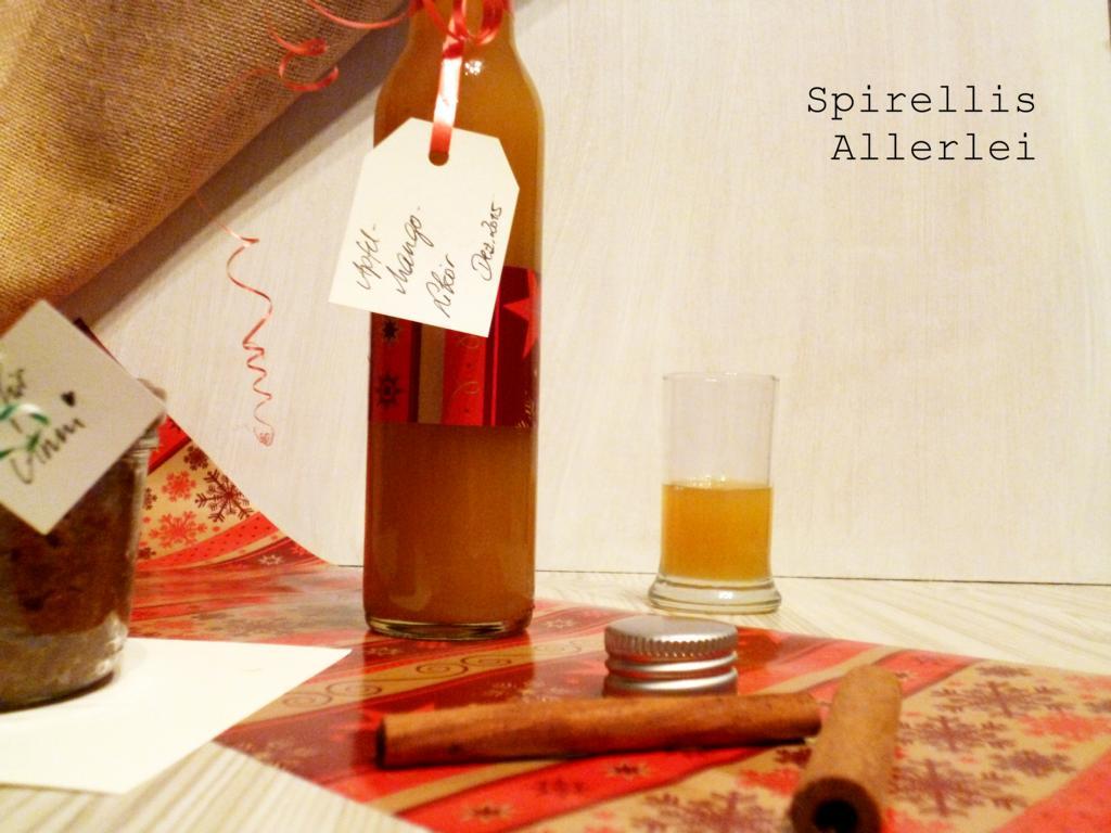 Getränke} Nachweihnachtlicher Apfel-Mango-Likör • Einfach Elsa