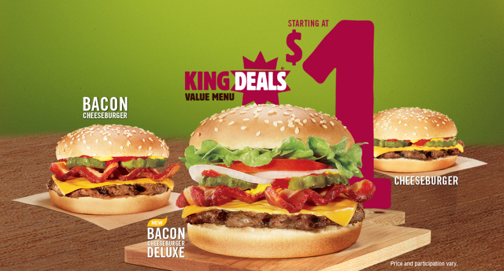 News: Burger King - King Deals Value Menu Anchored By New Bacon ...