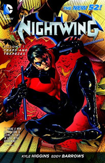 Review Nightwing Volume One Traps and Trapezes Kyle Higgins Eddy Barrows Eduardo Pansica Trevor McCarthy Dick Grayson Batman Bruce Wayne Raya Saiko DC Comics New 52 Cover trade paperback tpb comic book