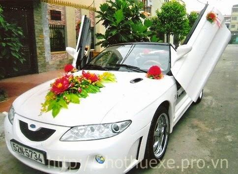 Các cách trang trí xe hoa cho đám cưới đẹp và đơn giản 1