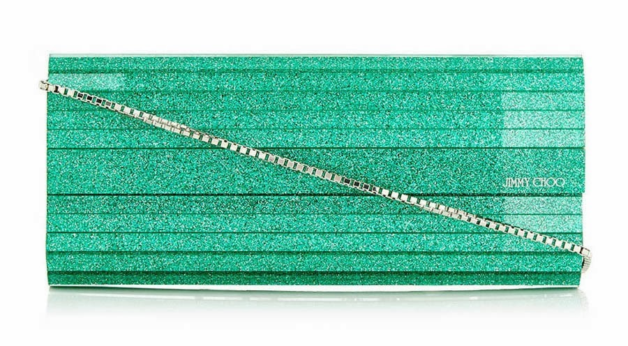 Jimmy Choo Jade Glitter Clutch