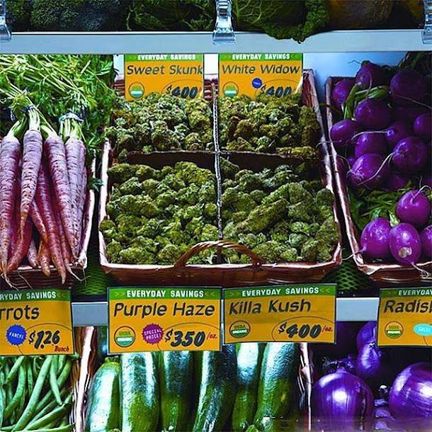 Você compraria maconha de um supermercado?