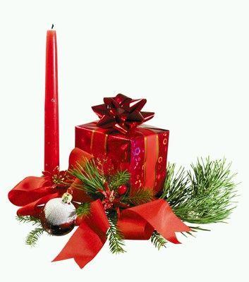 Decoraci n de navidad centros de mesa con - Centro de navidad con velas ...