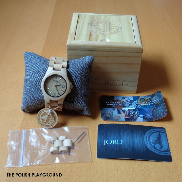 Jord Wood Watch Ely Series in Maple Review and Nail Art