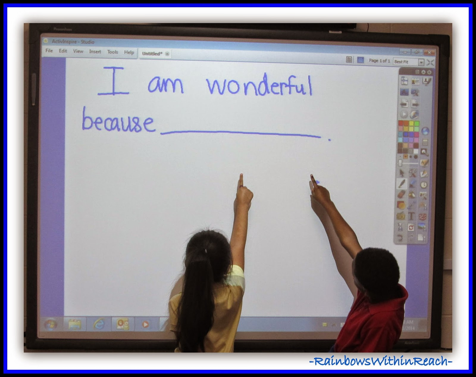 """I am wonderful because................"" Response to ""You're Wonderful"" by Debbie Clement"