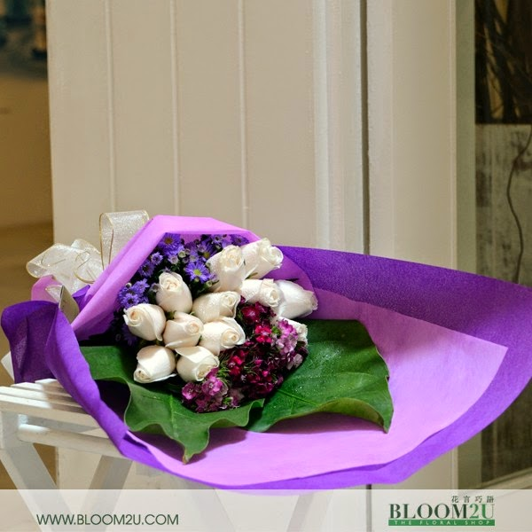 Pure Love flowers bouquets in Malaysia
