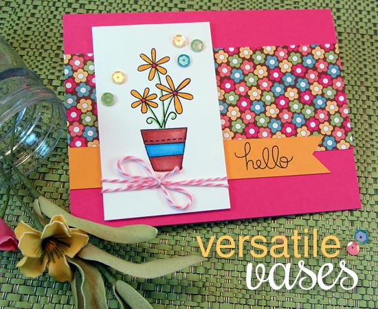 Vesatile Vases Floral Stamp Set  | Newton's Nook Designs