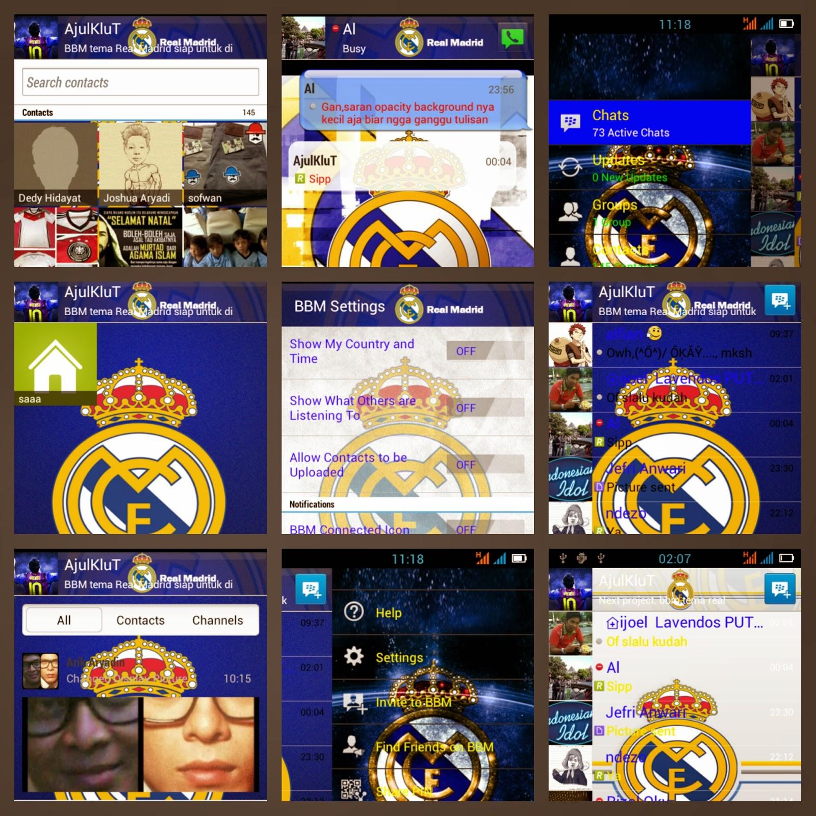 download gratis BBM Mod real madrid terbaru untuk android