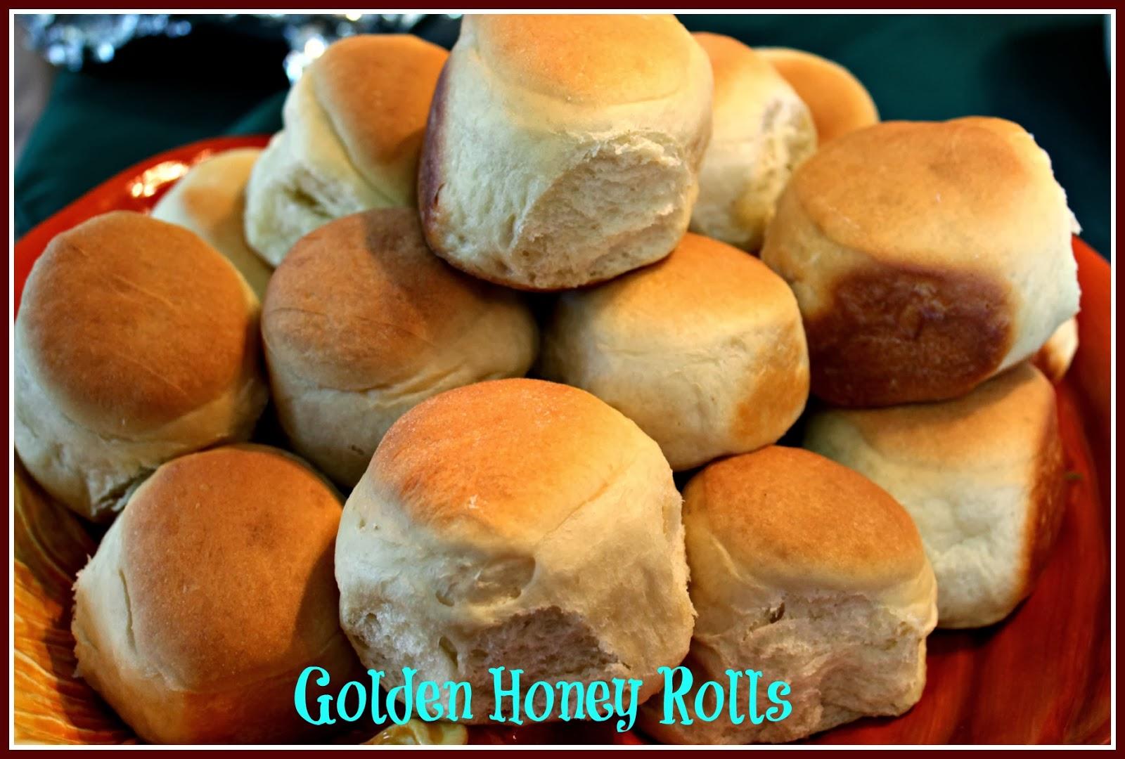 Sweet Tea And Cornbread Golden Honey Rolls