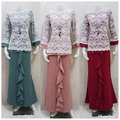 set skirt dan blouse