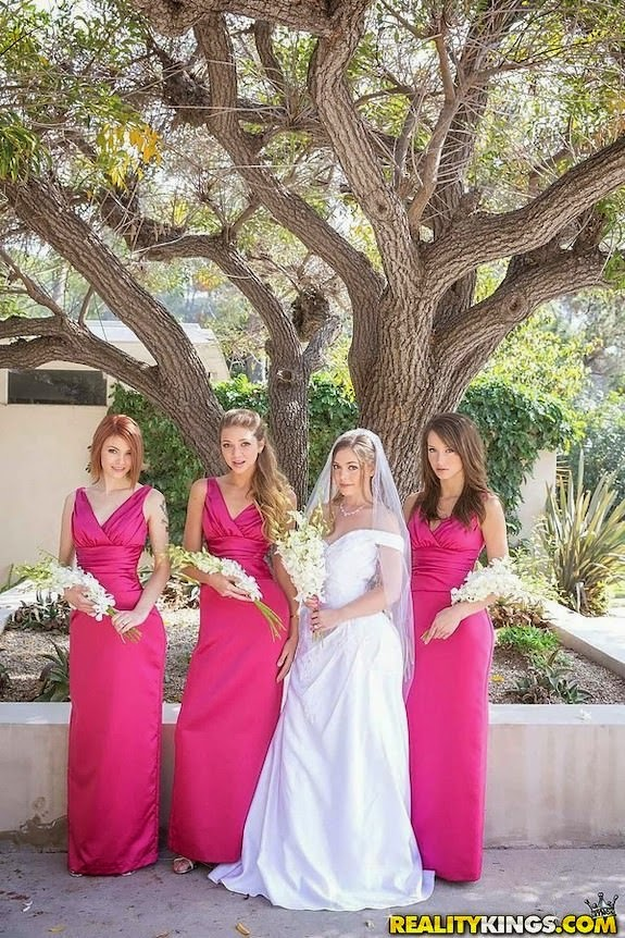 Porn bride and bridesmaids