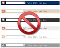 Cara Mudah Menghilangkan Navbar Pada Blogspot