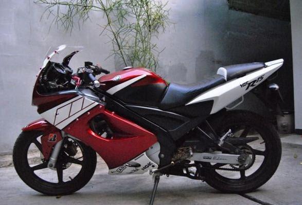 Yamaha Vixion Merah Full Fairing Modifikasi