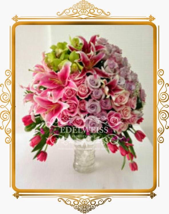 rangkaian bunga mawar import