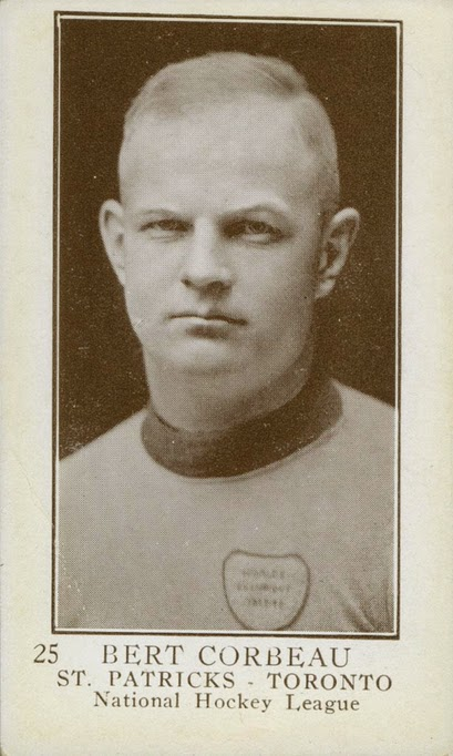 bert corbeau 1923-24 v145 vintage hockey card toronto st. patricks