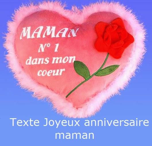 Texte joyeux anniversaire maman texte anniversaire sms - Carte bon anniversaire maman ...