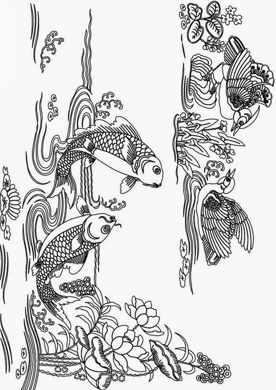 Coloring pages abstract coloring pages free and printable for Adult fish coloring pages