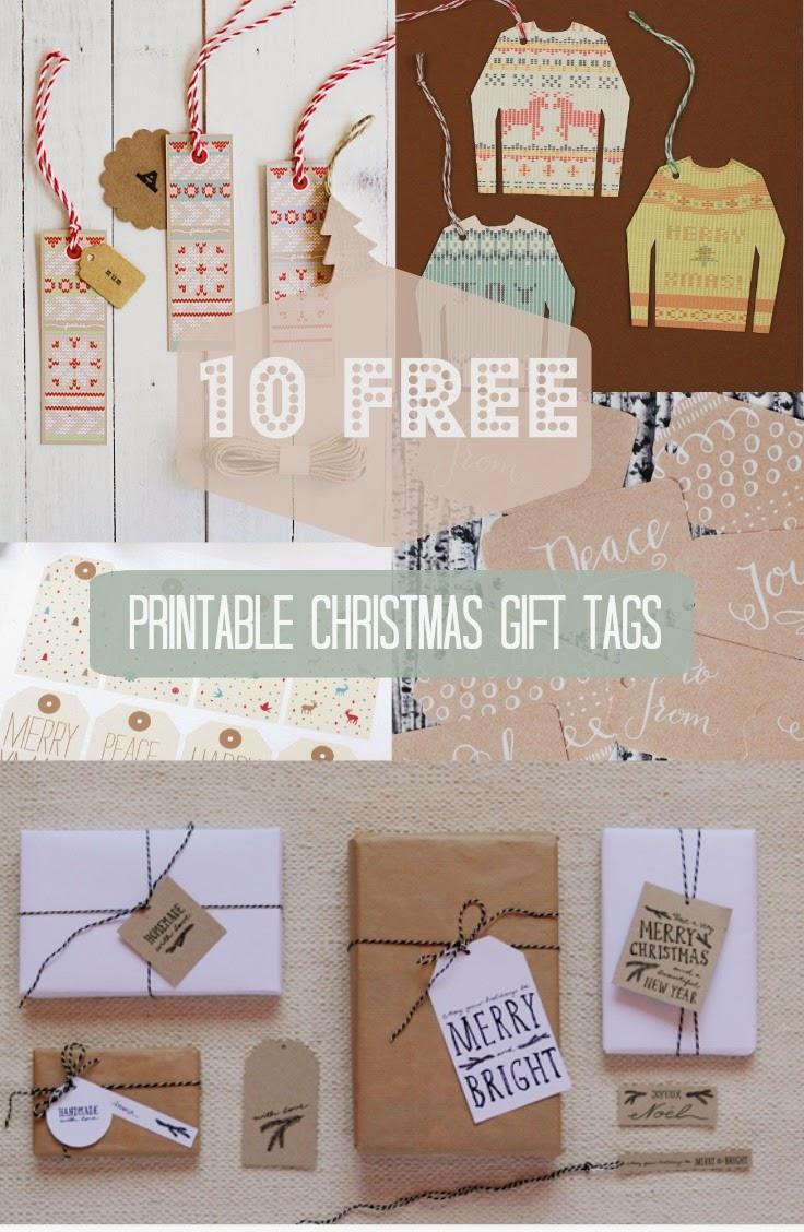 10 Free Gift Tag Printables