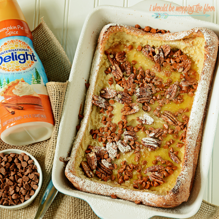 Pumpkin and Pecan Dutch Baby Pancake | Easy and FUN show-stopping fall breakfast!