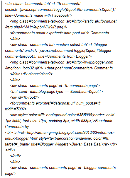 Picture 4 #Membuat Komentar Facebook Di Blogger