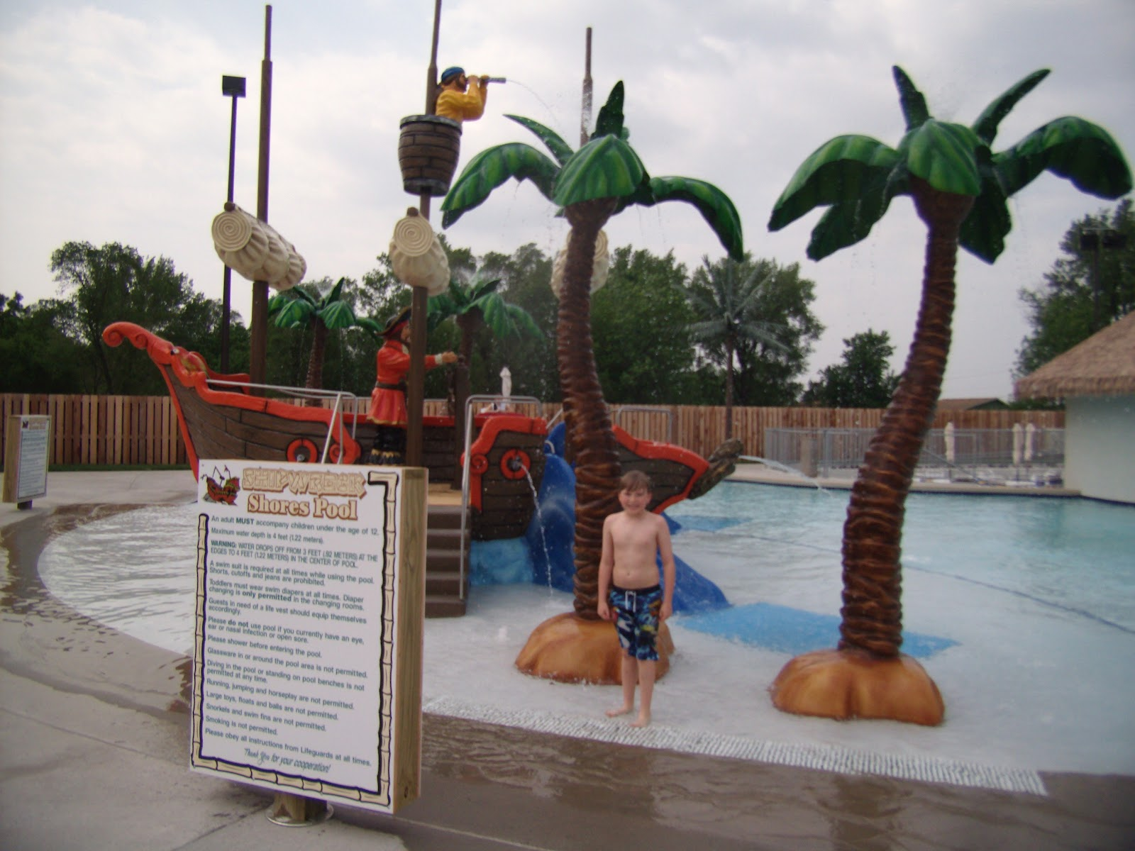 ... shores pool offers kids and kids at heart a pirate ship to play on and