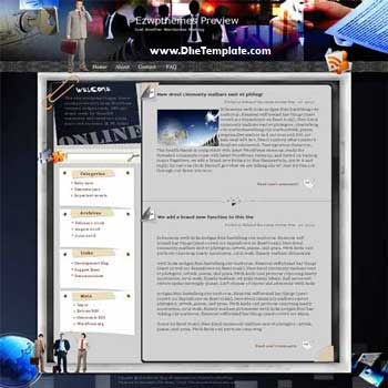 Coffee and TV blogger template. converted WordPress to Blogger template. business template blog
