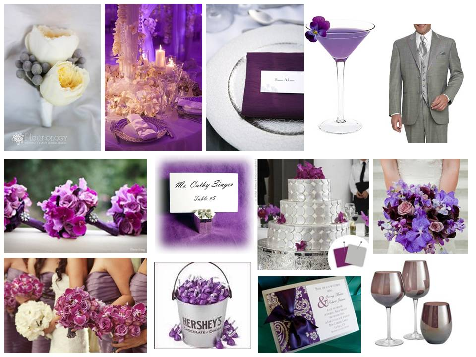 wrapped couture purple u0026amp silver inspiration board purple and silver wedding cake 960x720