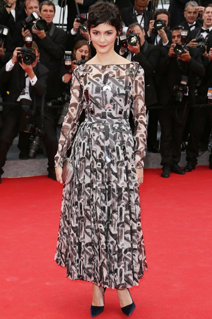 Audrey Tautou wore top-to-toe Prada at Cannes 2014