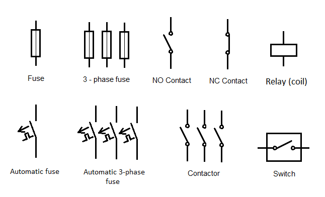 momentary contact switch symbol electrical wiring diagram