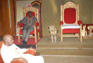 PHOTONEWS: Jonathan & Sambo Embarrassed as Oba of Benin Refuses to show up for meeting