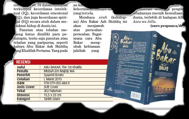 Resensi Buku: ABU BAKAR, The 1st Khalifa