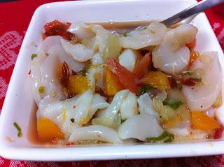 scallops ceviche appetizer