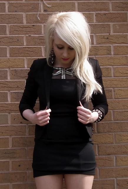 Sammi Jackson - Miss selfridge silver beaded cut out dress