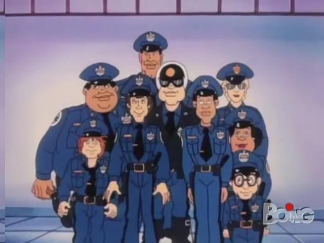 Cartoni animati anni scuola di polizia