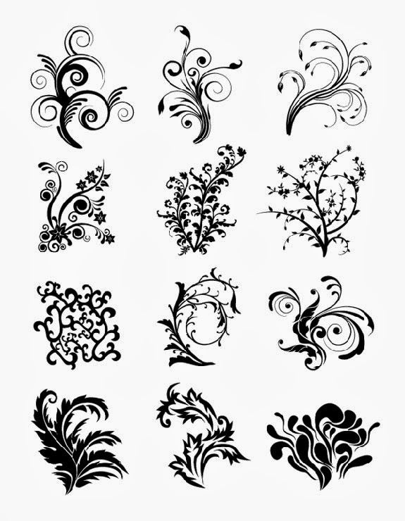 Vector Freebies: Floral Curves