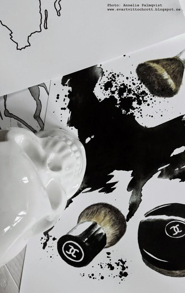 konsttryck, artprint, artprints, tavla, tavlor, svart och vitt, svartvita posters, smink tavla, presenttips, döskalle, dödskalle, döskallar, vitt, vita,