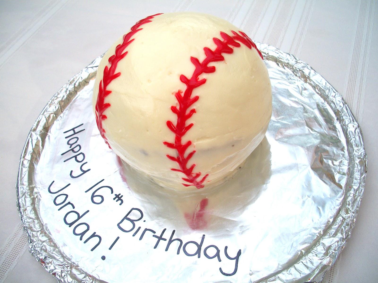 Brooke Bakes Baseball Cake