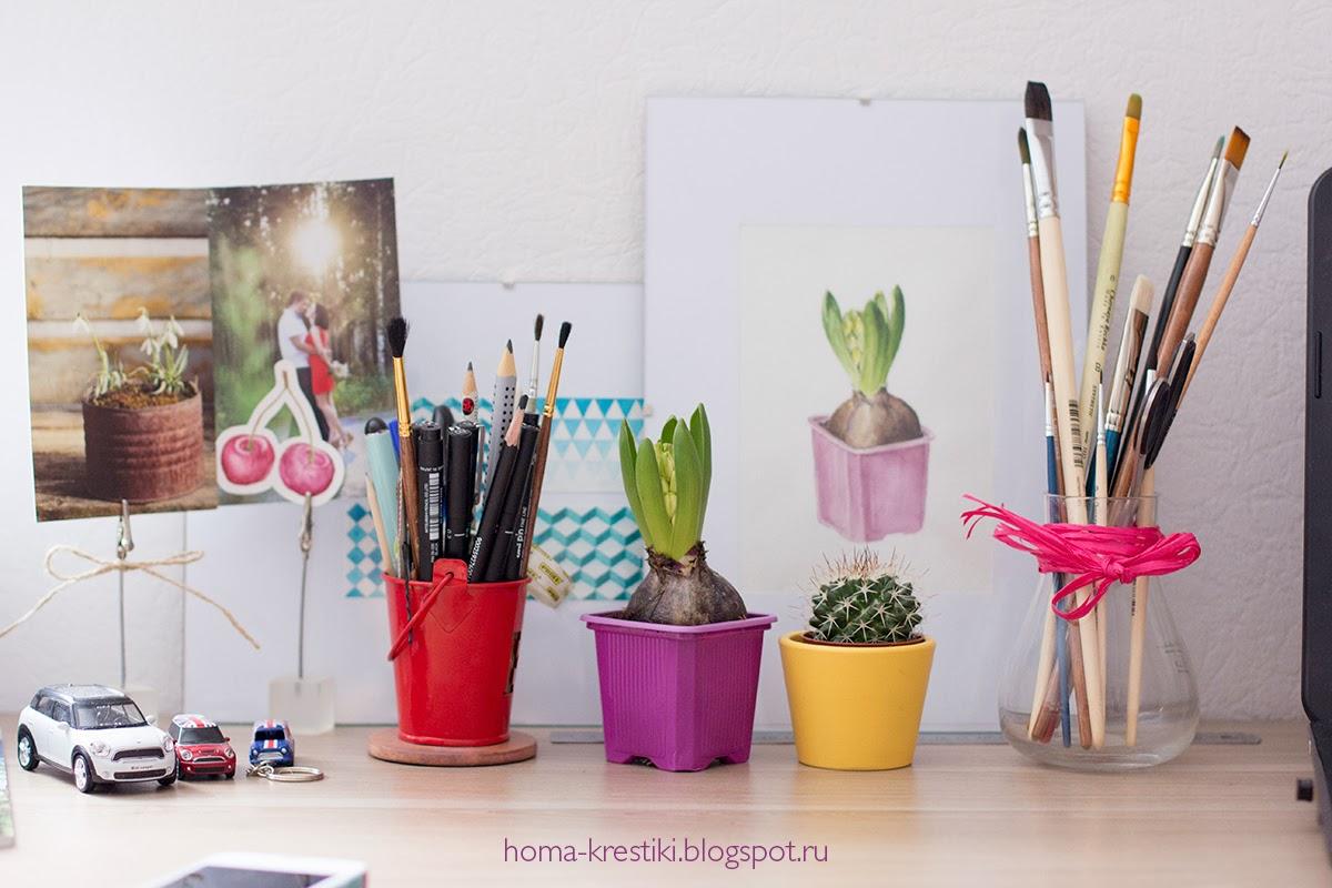 весна, гиацинт, рабочий стол, хомкины крестики
