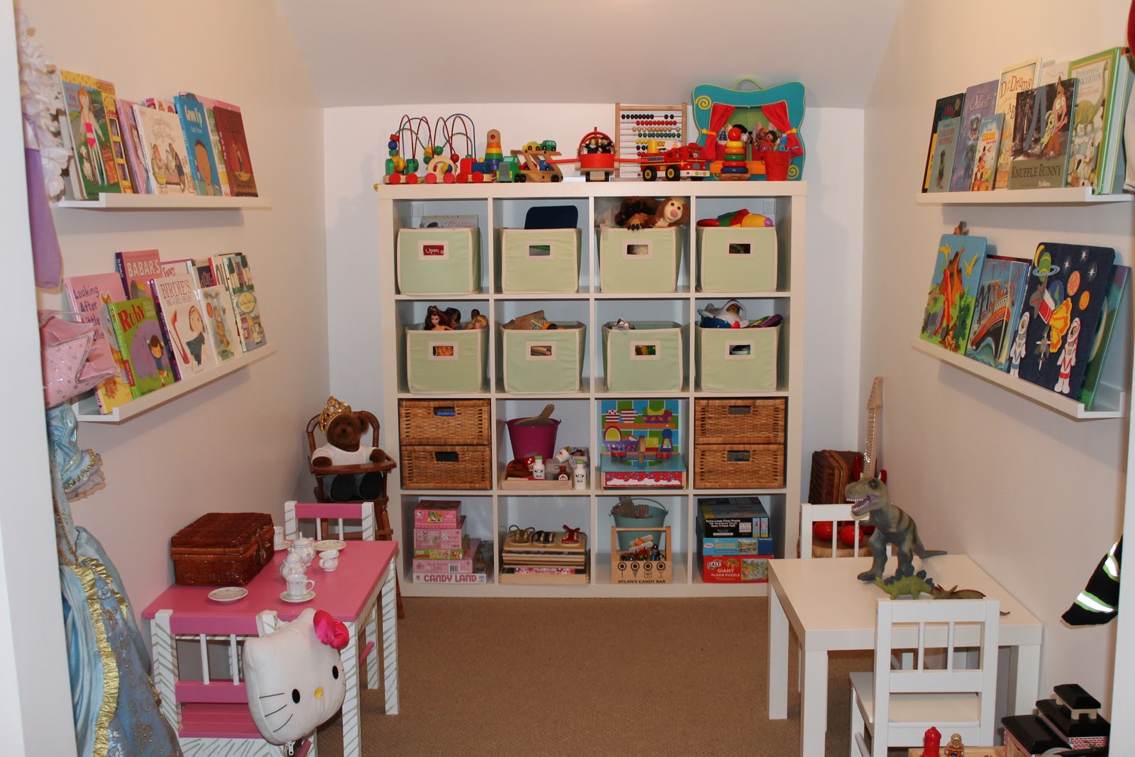Hamptontoes from closet to playroom Closet toy storage ideas