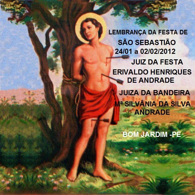 que pela interseção de são sebastião deus cubra vocês de benção