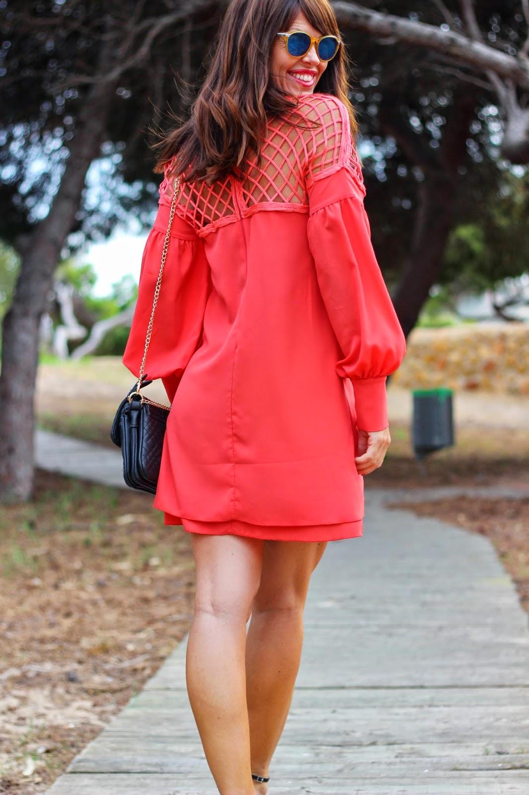 Vestido  Denny Rose Primavera 2014 - Coral - Tendencias 2014