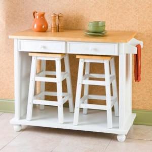 Decoraci n de interiores pr cticas mesas para tu comedor - Mesas auxiliares para cocina ...