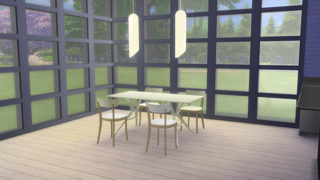 My sims 4 blog vitra dining and living room set by for Q significa dining room