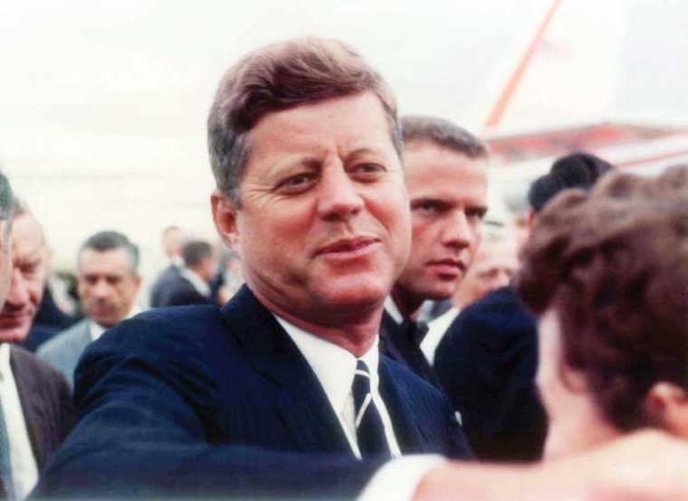 JFK with Secret Service Agent Ron Pontius