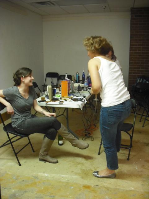 NWAFW, behind the scenes, hair
