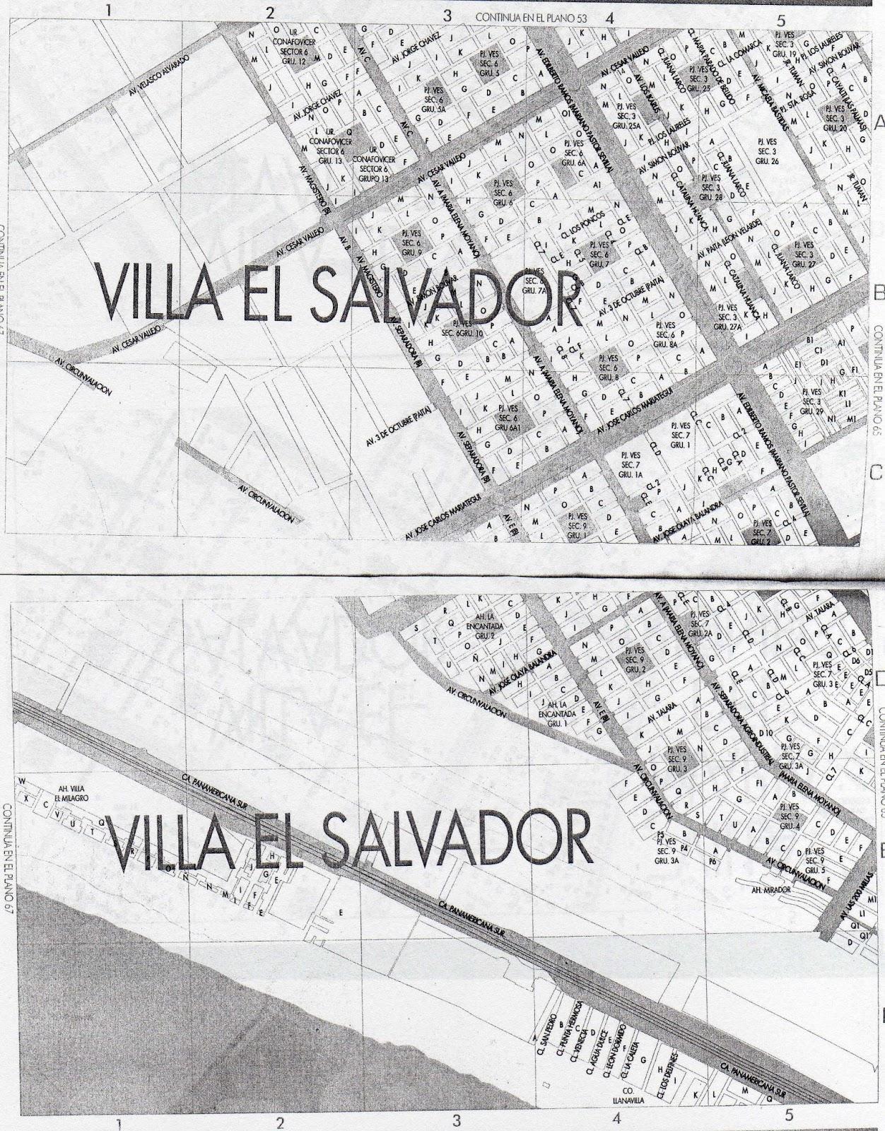 Para mis tareas mapa diagrama villa el salvador for Plano de villa el salvador
