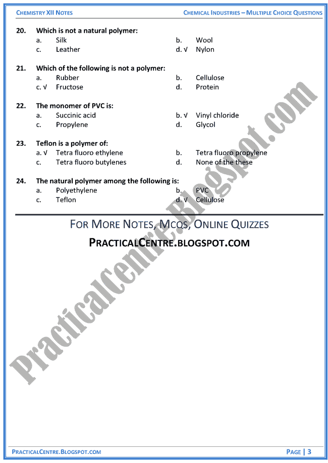 chemical-industries-in-pakistan-mcqs-chemistry-12th