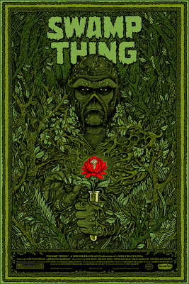 Mondo - Swamp Thing Standard Edition Green Screen Print by Florian Bertmer