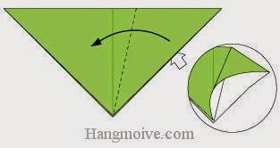 Bước 3: Từ vị trí mũi tên trắng ta mở miệng tờ giấy ra.