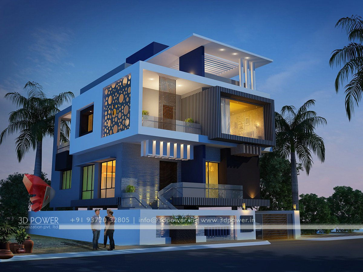 Ultra modern home designs home designs bungalow for Home design 3d view